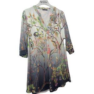 Azalea By Firmania Bird Tree Boho Spring Tunic
